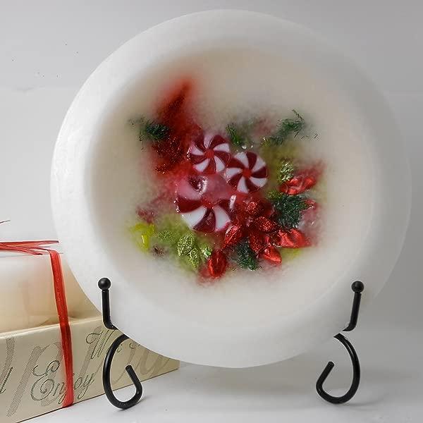 Habersham Sparkling Winter Mint Wax Pottery Vessel 7
