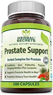 Herbal Secret Prostate Support 200 Capsules (Non-GMO) Advance Herbal Formula with Saw Palmetto, Pygeum, Stinging Needles E...