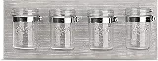 Rustic Mason Jar Organizer for Office, Bathroom, Kitchen, and Hallway Decor Storage, Farmhouse Mason Jar Organizer and Storage Ideal for Hanging on Wall, Grey