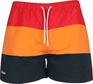 ellesse Cielo Swim Shorts   Red/Orange/Navy