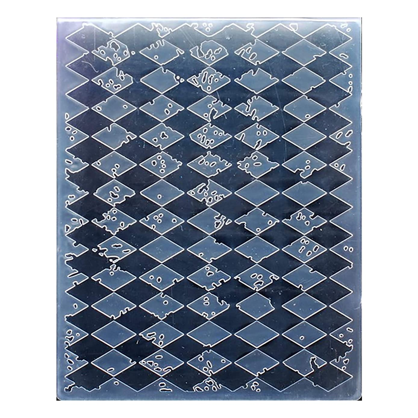 Kwan Crafts Diamond Plastic Embossing Folders for Card Making Scrapbooking and Other Paper Crafts, 12.1x15.2cm