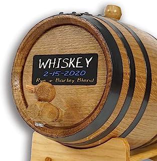 American Oak Barrel (2 liter) with Chalkboard Front - Mini Keg for Aging Bourbon, Scotch, Whiskey, Gin, Hot Sauce - Home B...