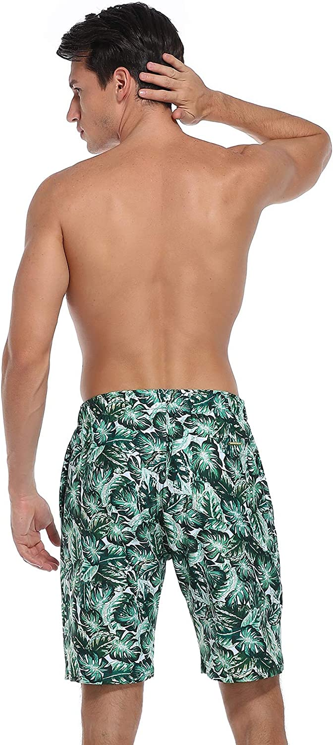 RELLECIGA Mens Swim Trunks Quick Dry Board Shorts with Pockets Bathing Suits