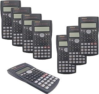 RENUS 8 Packs, 2-Line Engineering Scientific Calculator Function Calculator for Student and Teacher 16 AAA Batteries Included