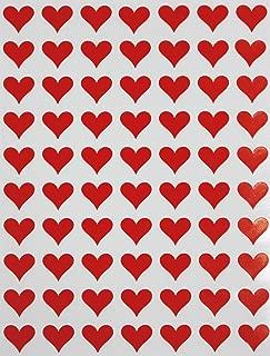 Royal Green Heart Label Red Sticker for envelopes 1/2