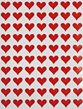 "Royal Green Heart Red Sticker for Envelopes 1/2"" Teacher Supply Stickers, Gift Packaging, Party Favor and Bags - 1050 Pack"
