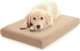 Milliard Premium Orthopedic Memory Foam Dog Bed with Anti-Microbial Waterproof Non-Slip Cover, X Large 46x35x4 in