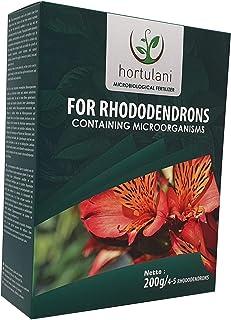Hortulani Fertilizante rododendros: Fertilizante microbiológico 100% Natural, orgánico para Cultivar Iris con Las Flores más Bellas. Paquete de 200 g para 4-5 Plantas.