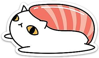 ملصق كمبيوتر محمول بتصميم القط السوشي مقاوم للطقس 3 بوصات