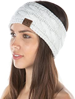 Funky Junque Exclusives Womens Head Wrap Lined Headband Stretch Knit Ear Warmer
