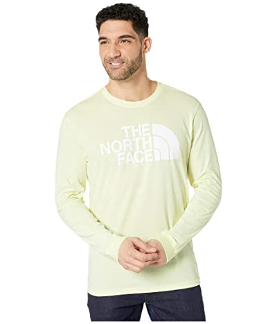 The North Face Long Sleeve Half Dome Tee (Tender Yellow) Men