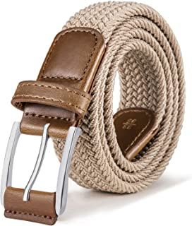 Sponsored Ad - Stretch Belt Men,Bulliant Mens Woven Stretch Braided Belt 1 3/8