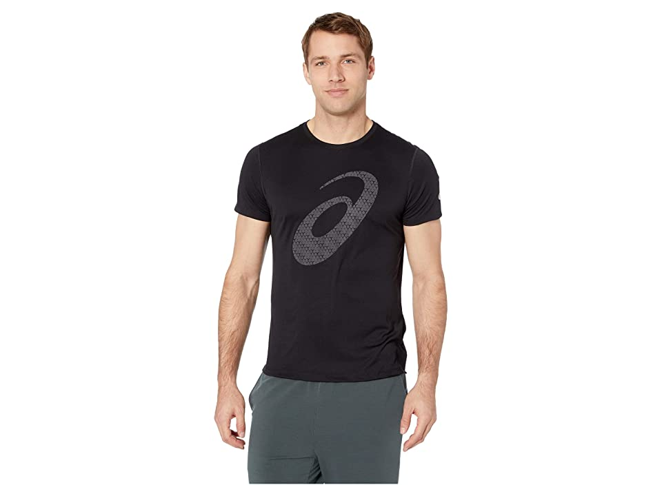 ASICS Run Silver Short Sleeve Graphic 3 Top (Performance Black) Men