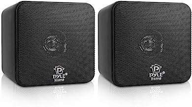 "4"" Mini Cube Bookshelf Speakers – Paper Cone Driver, 200 Watt Power, 8 Ohm.."