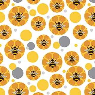 GRAPHICS & MORE Bee on Honeycomb Premium Gift Wrap Wrapping Paper Roll