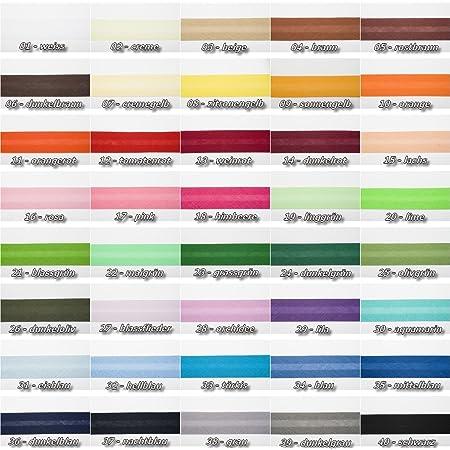 maDDma 1m Falzgummi 20mm Faltgummi elastisches Einfassband Schr/ägband Saumband Farbwahl Farbe:anthrazit