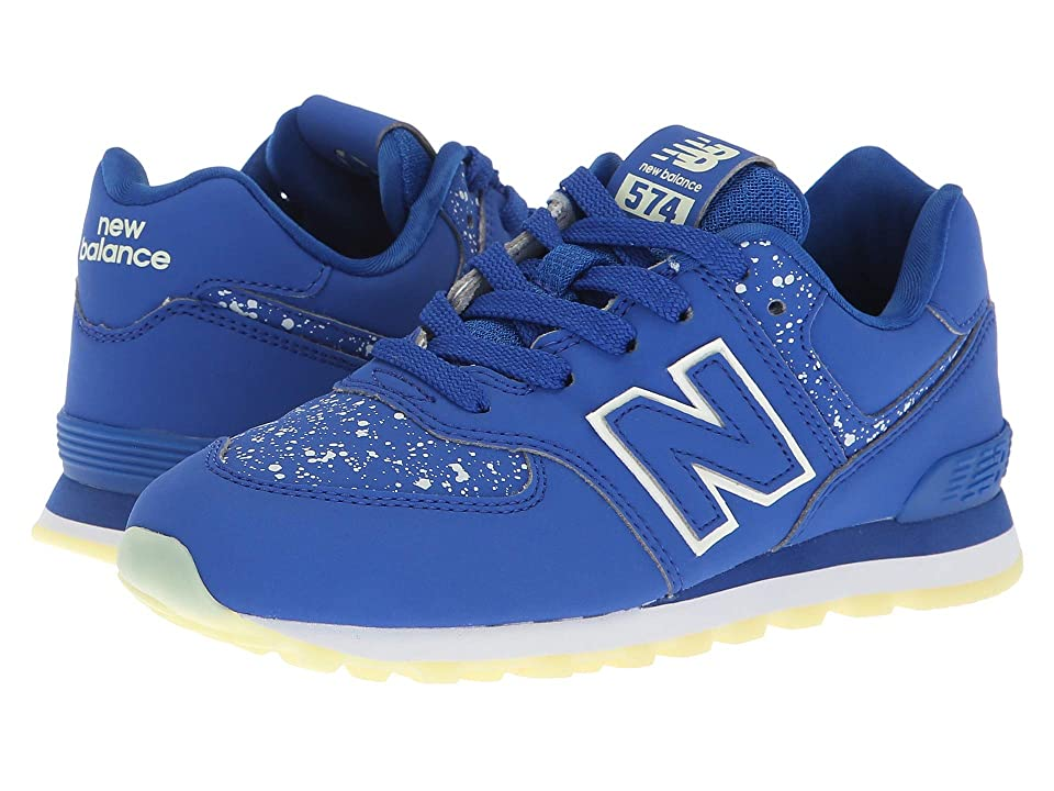 New Balance Kids PC574v1 (Little Kid) (Royal/Glow in the Dark) Boys Shoes