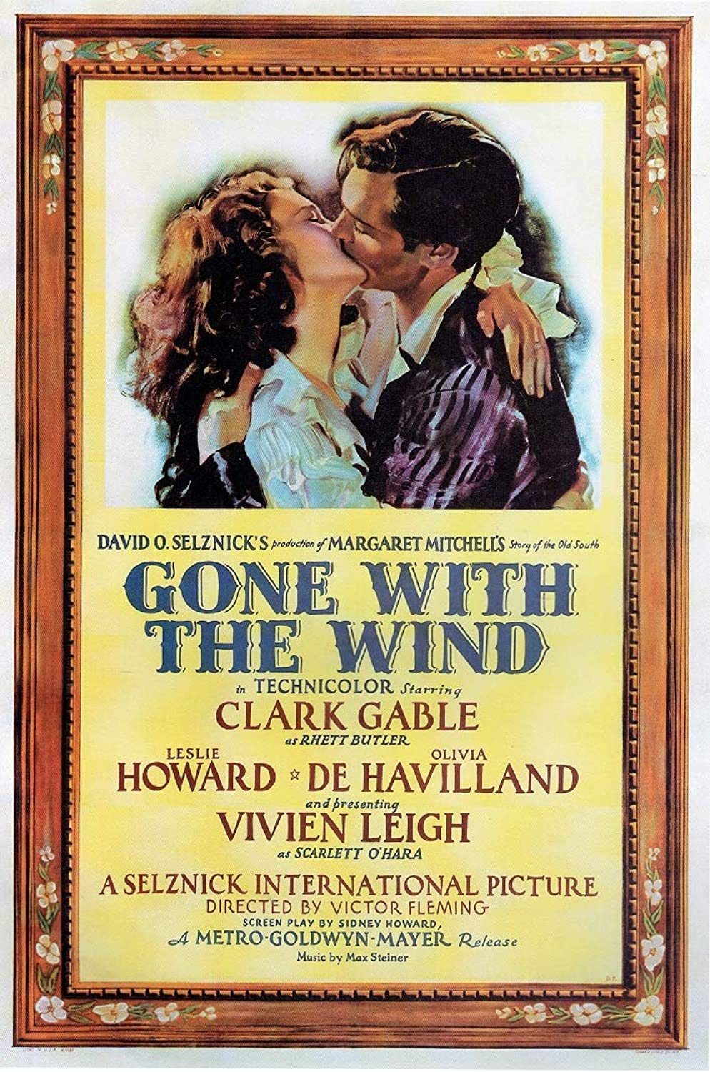 Black Creations Gone With The Wind nr.2 – 1939 Poster Canvas Picture Art Print Premium Quality A0 A1 A2 A3 A4 (A0 Canvas (30 40))
