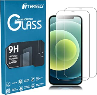 TERSELY [2 Pack] Screen Protector for iPhone 12 Mini, 9H Hardness Case Friendly Tempered Glass Screen Protectors Anti-Scra...