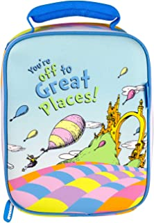 Kids Lunch Bag Box Insulated Toddler Girls Boys Cooler Bag Dr Seuss Oh The Places