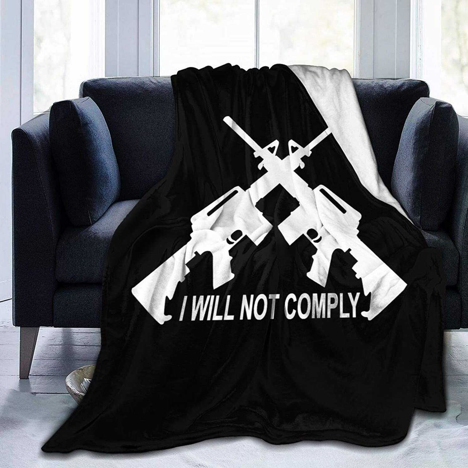I Will Not Comply Blanket Super Comfortable and Micro Soft Popular brand in Quality inspection the world