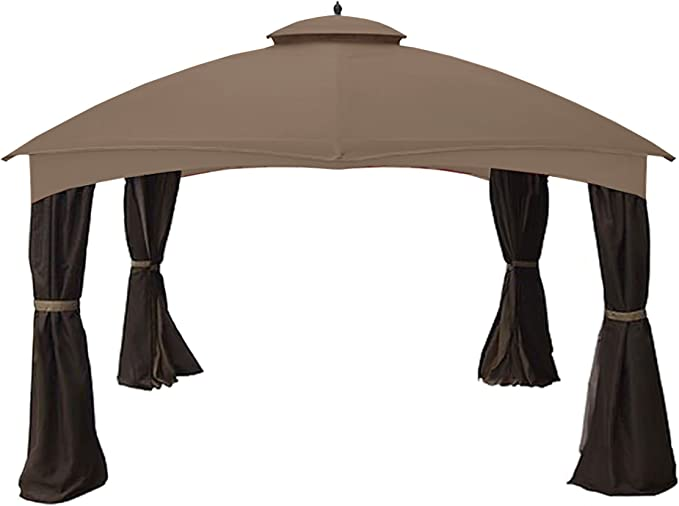 Garden Winds Replacement Canopy Top Cover for the 12x10 Crescent Gazebo RipLock 350