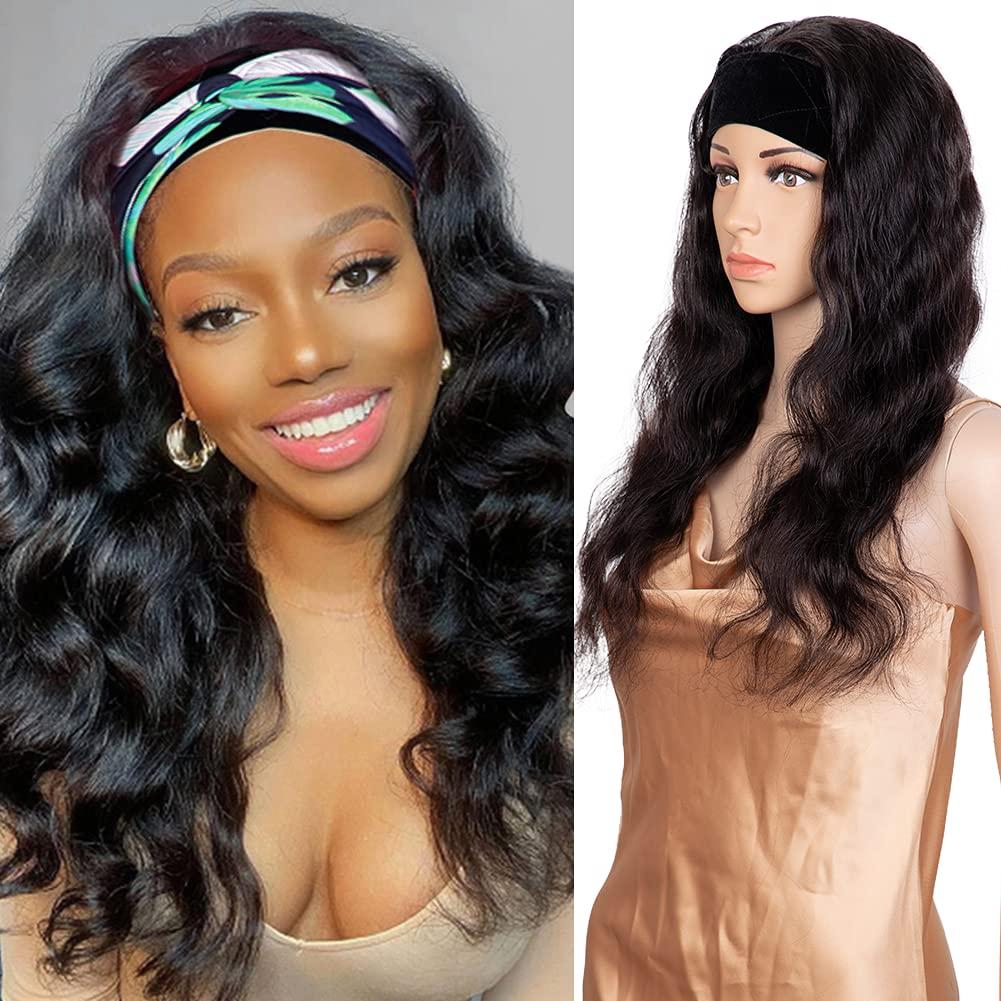 Headband Wig Sales of SALE items from new works Body Human Las Vegas Mall Hair Brazilian Vir Half Glueless