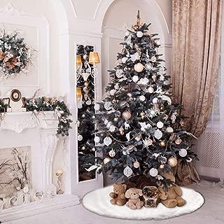 Blanc 78cm Jupe de Sapin de No/ël d/éco UHAPEER Peluche d/écoration de Jupes de Sapin