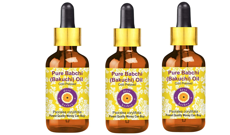 Deve Herbes Pure Babchi Oil (Psoralea corylifolia) with Glass Dr