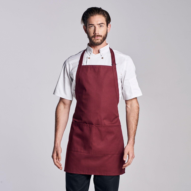 Details about  /Women Men Cooking Bib Restaurant Chef Bib Unisex Work Apron Dress with Pocket HA