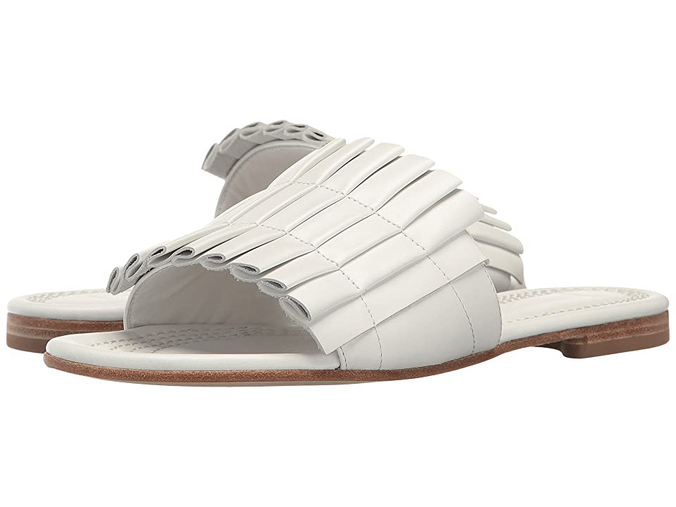 Kennel & Schmenger Folded Leather Slide Sandal (White) Women