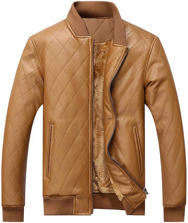 Leather Jacket Men 1 year warranty Outerwear Pu Business Coat Rapid rise Motorcycle