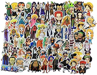 Stickers 135 pcs , Anime One Piece Cartoon Laptop Stickers Funny Vinyl Decals for Skateboard Snowboard Kids Water Bottles Motorcycle Car - No- Duplicate Aesthetic Waterproof Sticker Pack