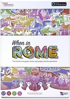 Voice Originals - When in Rome Travel Trivia Game Powered by Alexa (Renewed)