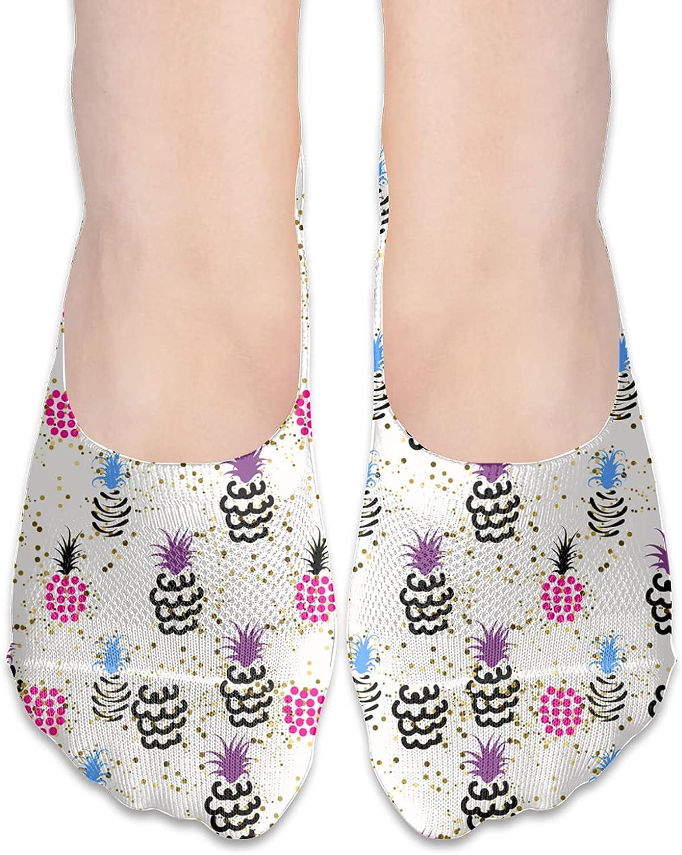 No Show Socks Women Men For Funny Pineapple Flats Cotton Ultra Low Cut Liner Socks Non Slip