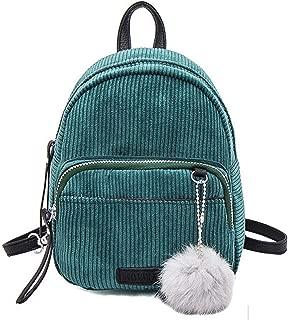 Basilion Cloth Backpack Mini Student Bags Casual Shoulder Bag(Green)