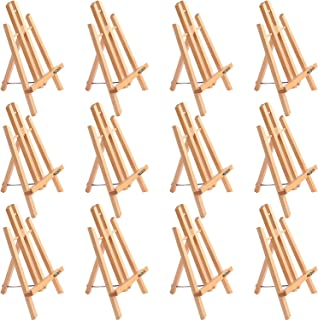 """11"""" Tall Tabletop Easel - ATWORTH Small Wood Easel Painting Display Easel, Pack of 12"""