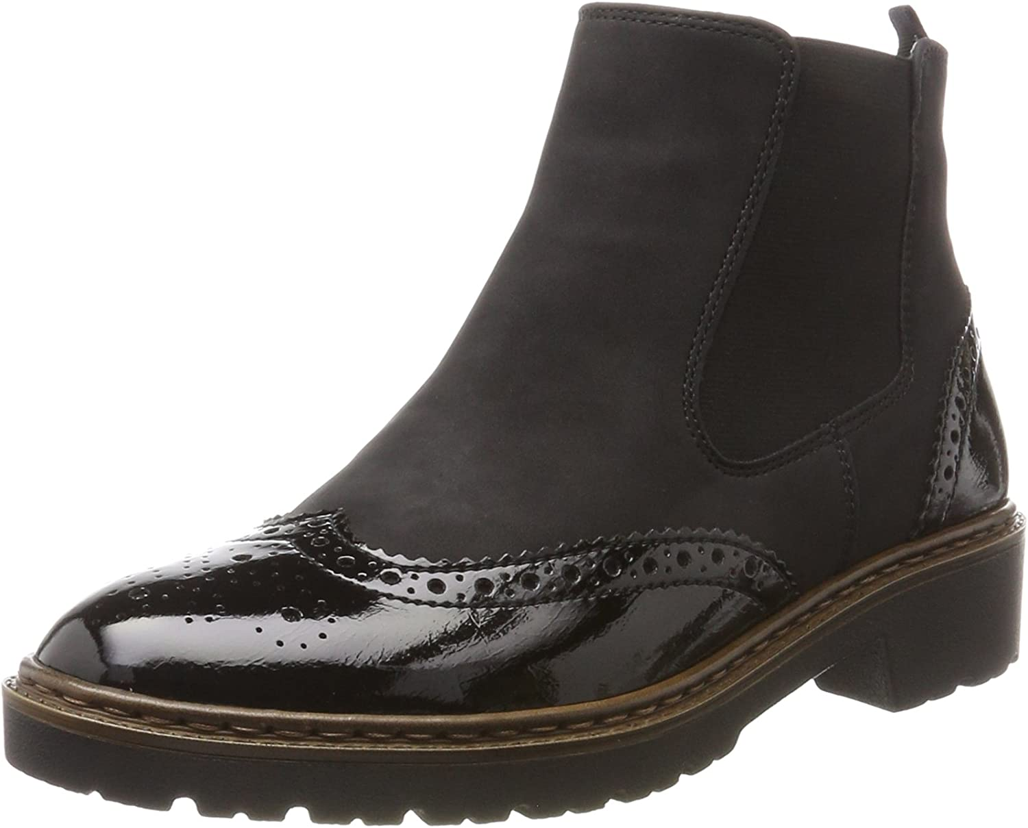 Jenny Womens Portland Black Synthetic shoes 38 EU