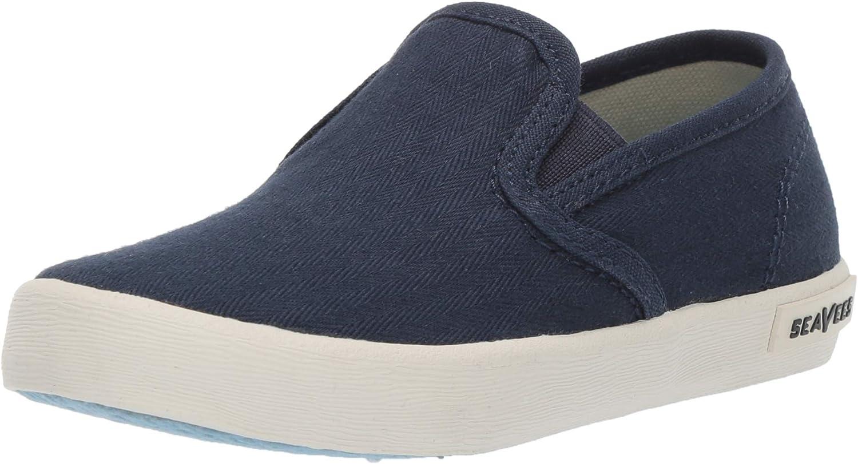 SeaVees Unisex-Baby Kids Baja Slip On Standard Sneaker, True Navy, 7C M US Toddler