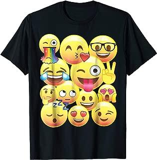 Cute Emoji Rainbow Smiley Face Shirt Peace Flowers PJ