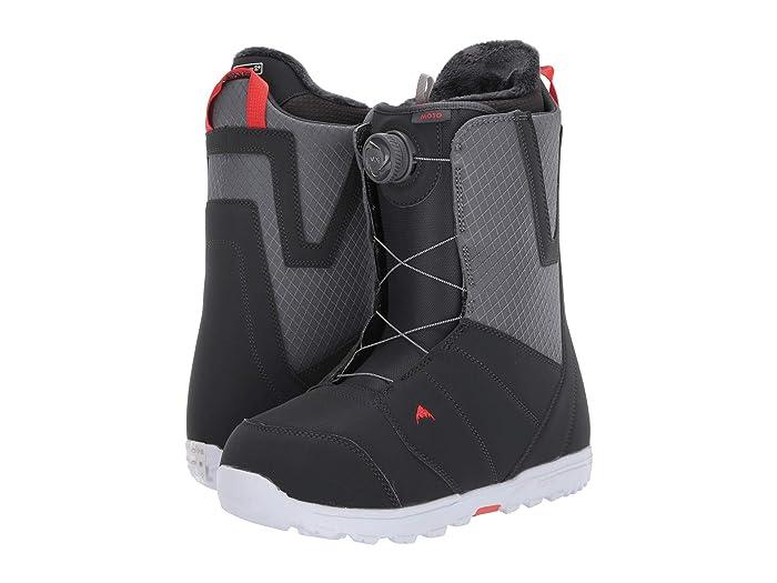 Burton  Moto Boa Snowboard Boot (Gray/Red) Mens Cold Weather Boots