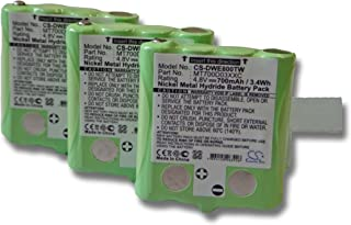 vhbw Set 3X Ni-MH baterías 700mAh (4.8V) para Radio Walkie Talkie DeTeWe Outdoor PMR 8000 Simvalley PX-1755, PX-1761 por M...