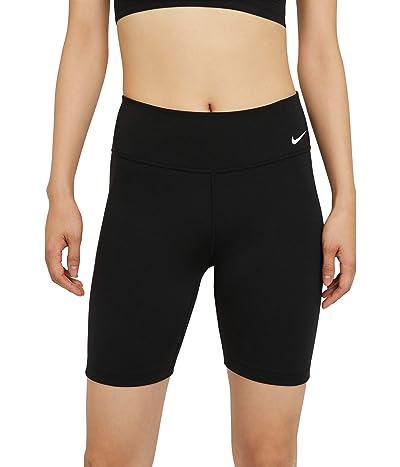 Nike One Mid-Rise 7 Shorts 2.0 (Sizes 1X-3X) (Black/White) Women