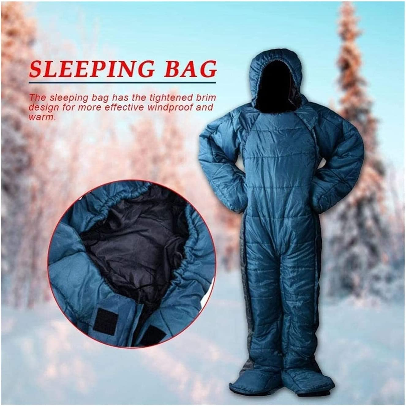 TUAN Ultralight Waterproof store National products Adult Sleeping Bag Legs Dow Arms and