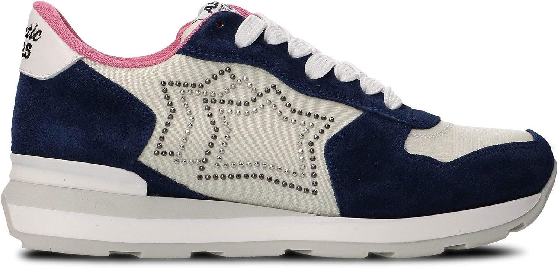 ATLANTIC STARS Women's VEGAGM86B White bluee Leather Sneakers