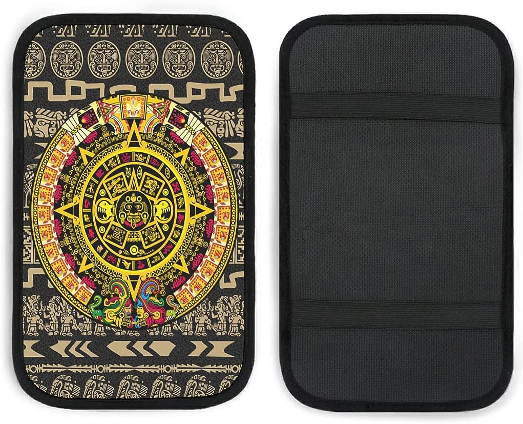 Car Center Console Cover Pad Colorful Boston Mall Mayan Special price for a limited time Comfortable Calendar