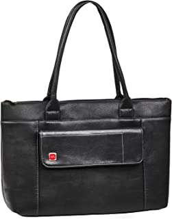 Rivacase 8991 Orly 15.6 Laptop Tote, Elegant, Classic, Sturdy, Black Vegan Leather