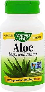 Nature's Way, Aloe, Latex With Fennel, 140 Mg, 100 Veggie Caps