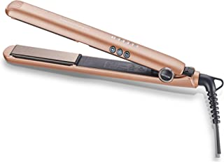 NITION 1 inch Ceramic Tourmaline Flat Iron Nano Silver Argan oil Hair Straightener LED 300°F-450°F Digital Pro Hair Straightening Iron MCH 10s Fast Heating-up,Champagne Gold