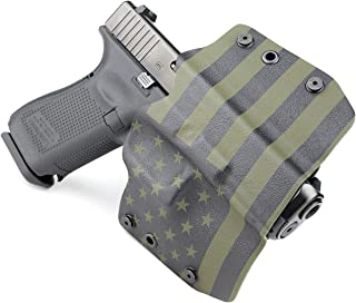 Outlaw Holsters: USA Green & Black - OWB Kydex Holster - Outside The Waistband